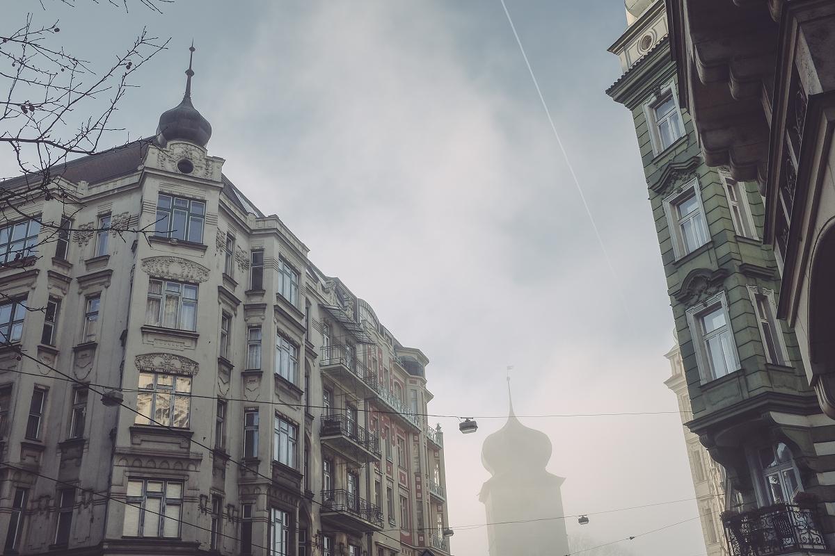 Praha v zimě - Mánes | © Jsem Jary